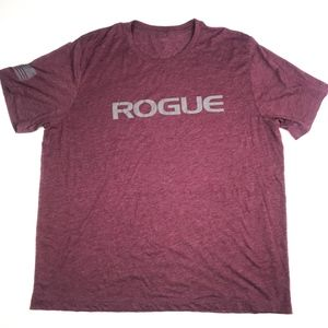 Rogue Fitness t-shirt Maroon Heather & Gray XXL